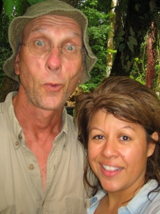 What did I expect?  The man took me to the jungle for our honeymoon:  Allan and Rosemary Hook, 2009.