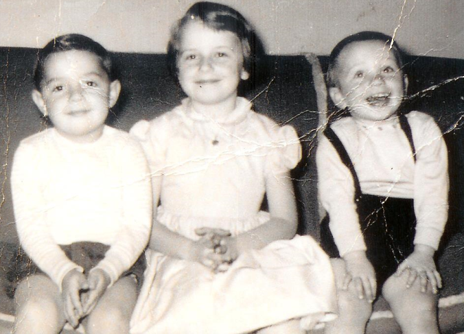 L-R: Hook's siblings, Walter and Claire then Allan with the big smile. Looking at his get-up, I'm going to guess 1955 maybe '56.