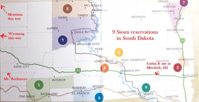 Map of Sioux reservations in South Dakota | Writings By Rosemary